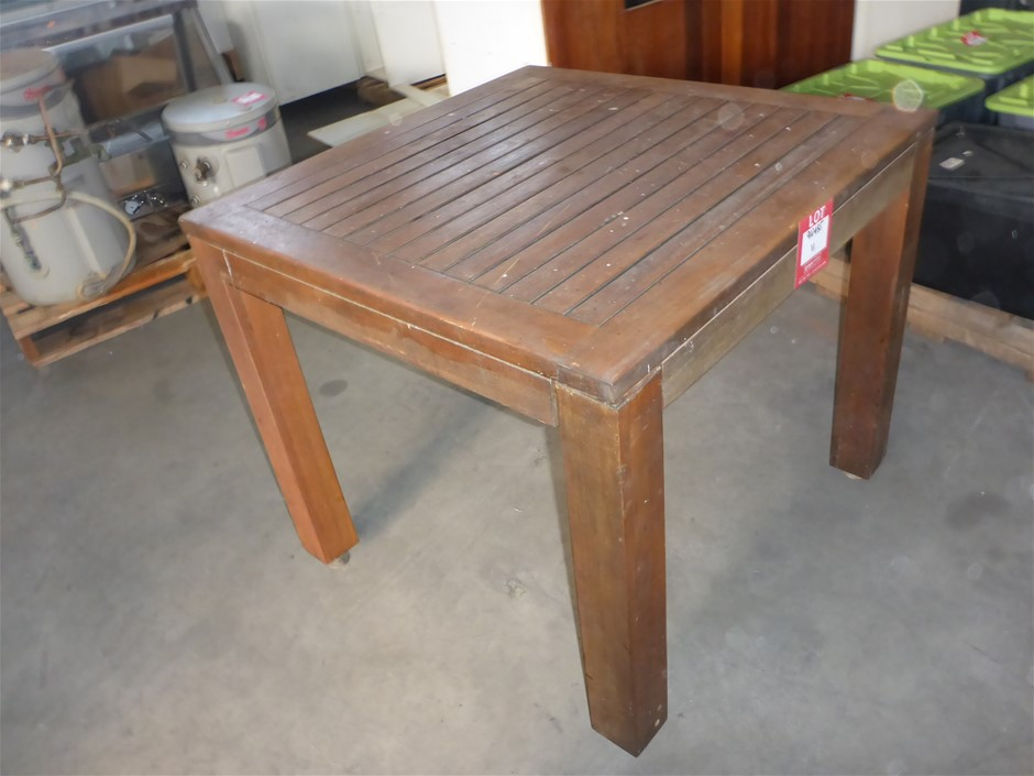 1 x Timber Outdoor Dining Table - 900mm x 900mm x 750mm (Dismantled)