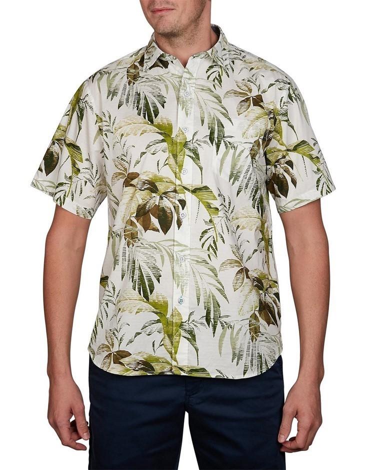 TOMMY BAHAMA Don`t Leaf Me Now. Size XXL, Short Sleeve Shirt, Colour: Cocon