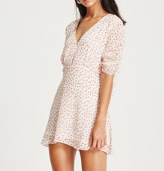 VESTIRE Olivia Mini Dress. Size 8, Colour: Red Polka Dot. ORP $219 Buyers N