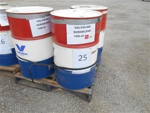 Lot of 3x Valvoline oil 2x Valvoline Dur