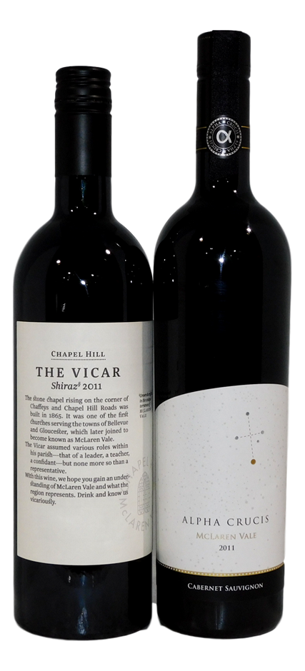 Mixed Pack of McLaren Vale Red Wine 2011 (2x 750mL), SA. Screwcap