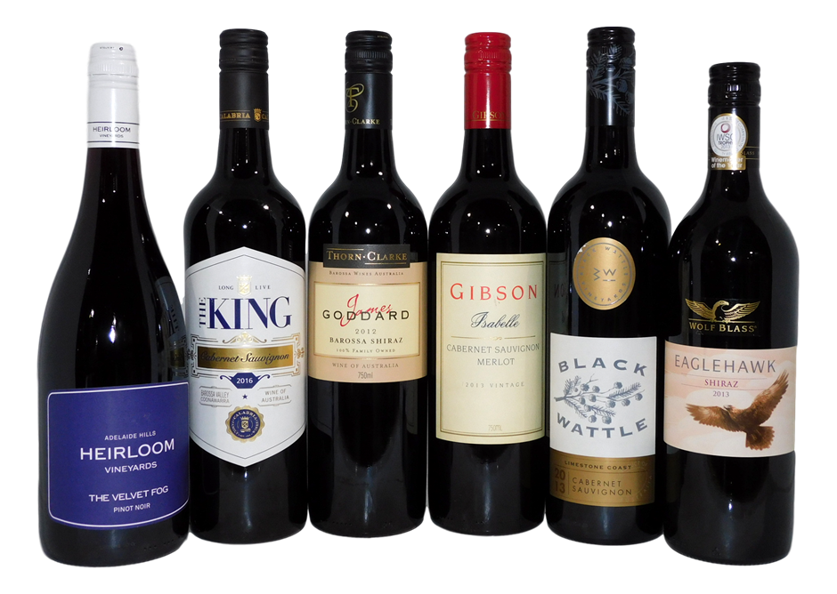 Pack of Assorted South Australian Red Wine (6x 750mL)