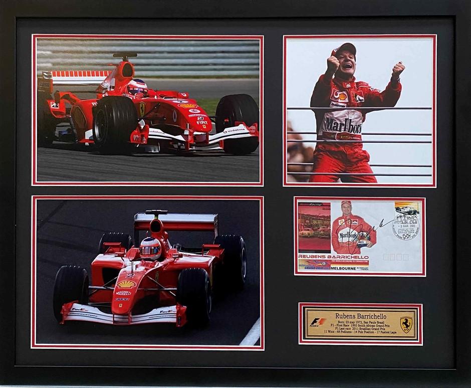 Rubens Barrichello RARE Melbourne 2002 Grand Prix First Day Cover Signed