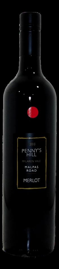 Penny's Hill Malpas Road Merlot 2013 (6x 750mL), McLaren Vale, SA