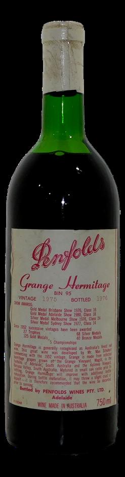 Penfolds Grange Hermitage Bin 95 Shiraz 1975 (1x 750mL), SA. Cork