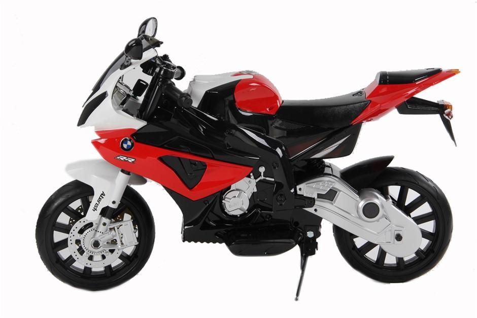 BMW 12V Kids Electric Ride-on Motorcycle. N.B. Side mirror broken. N.B. Not