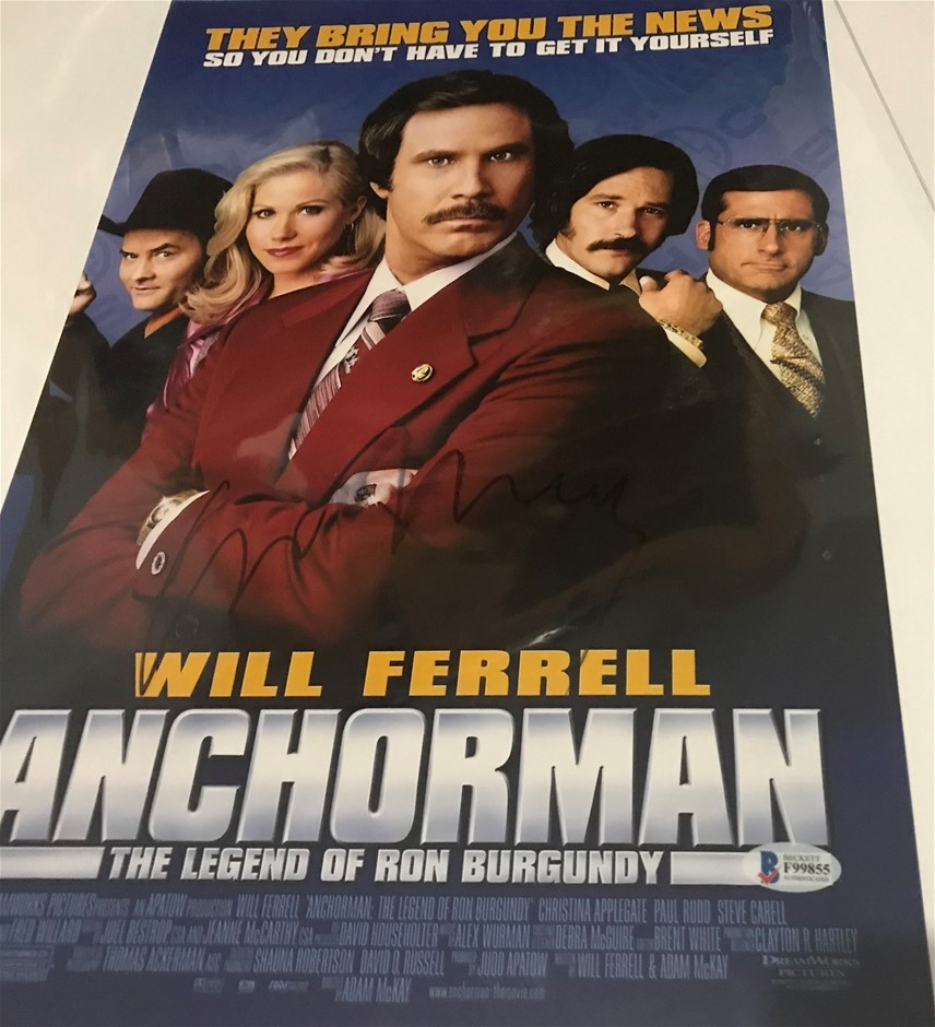 Will Ferrells Anchorman signed movie poster (Pooraka, SA)