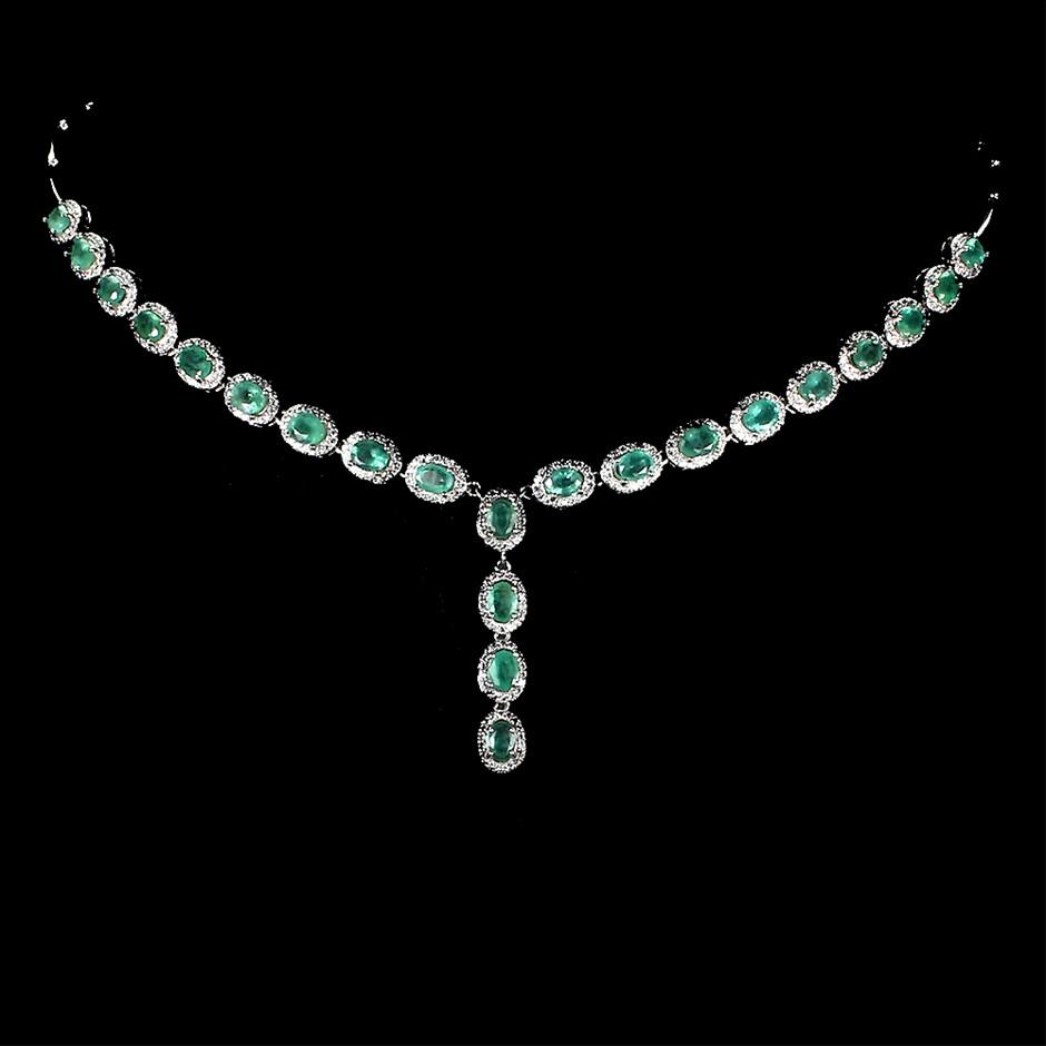 Spectacular Genuine Emerald Necklace.