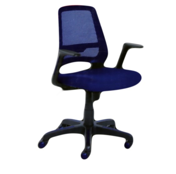 TRUE INNOVATIONS Mobile Office Task Chair, Mesh Back Fabric Seat, Pneumatic