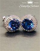 SimplySelena Spherical Tanzanite Earrings