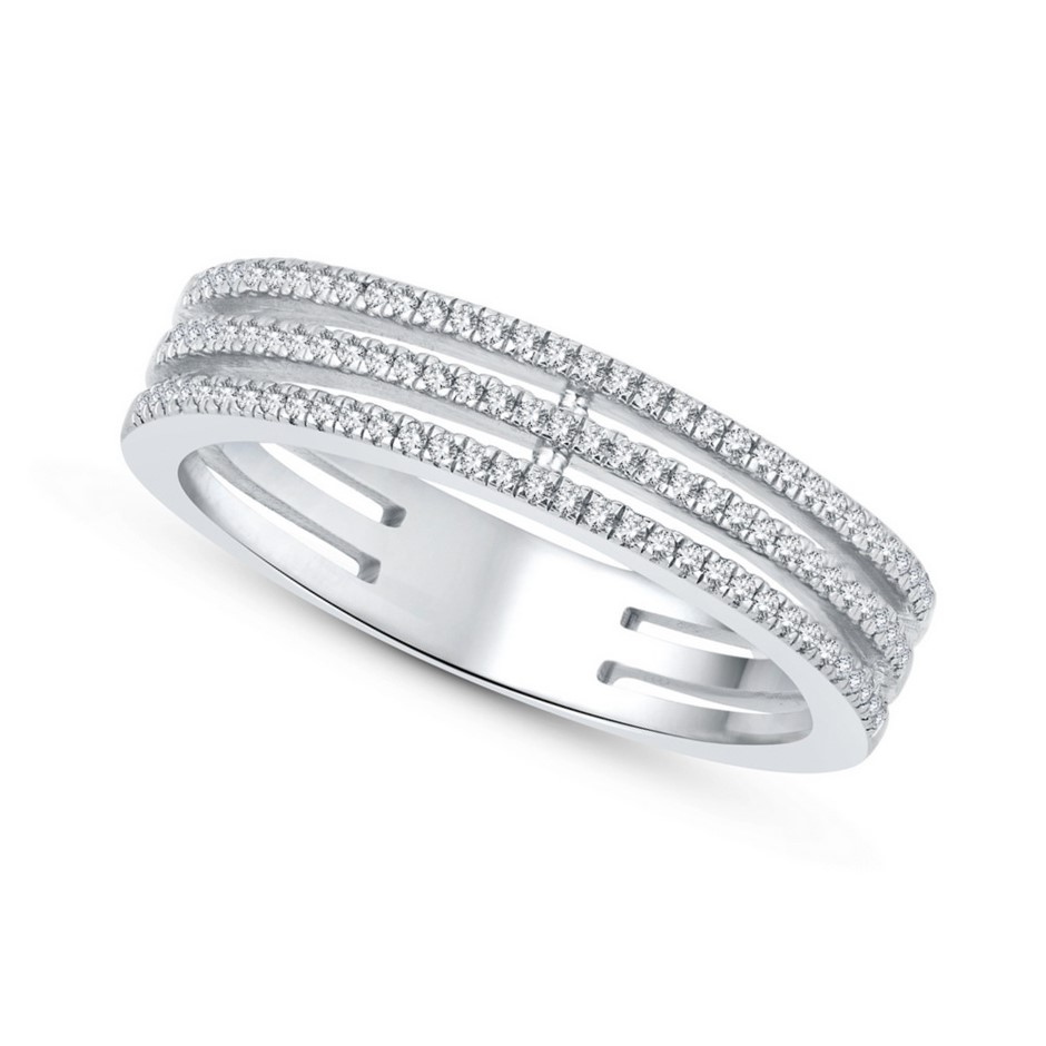 9ct White Gold, 0.12ct Diamond Ring