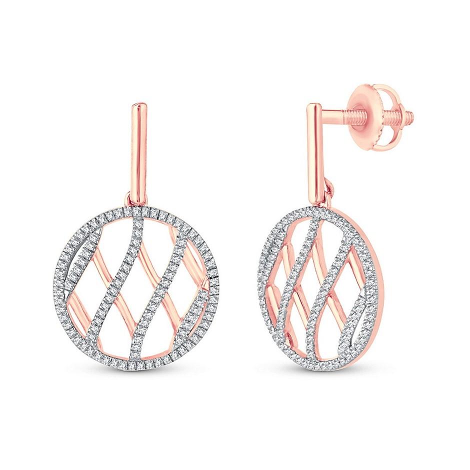 9ct Rose Gold, 0.29ct Diamond Earring