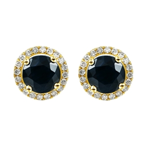 9ct Yellow Gold, 2.50ct Blue Sapphire an