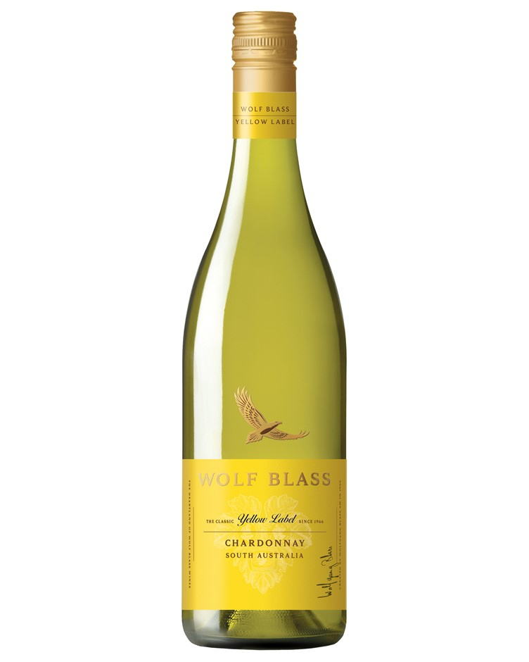 Wolf Blass Yellow Label Chardonnay 2019 (6x 750mL).