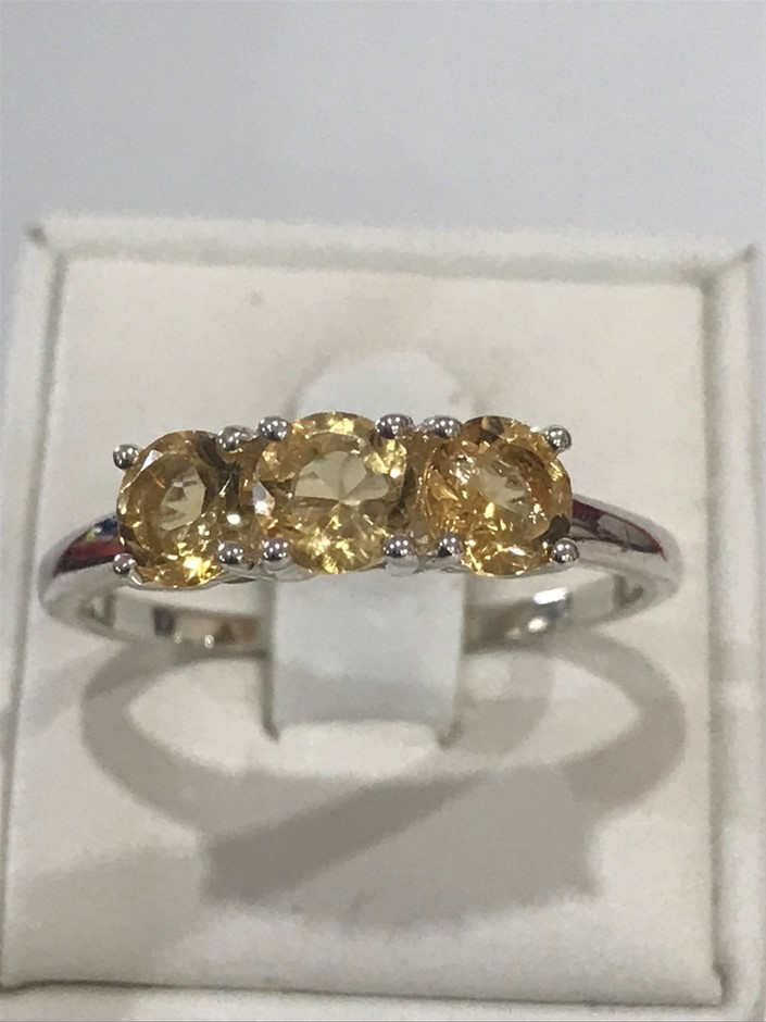 Magnificent 1.70ct Citrine Ring Size R 1/2 (9)