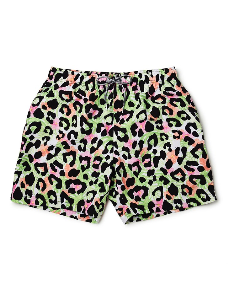 BOARDIES APPAREL Boardies Cheetah Swim Shorts. Size M, Colour: Multi. 100%