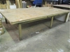 Large Timber / Steel Fabricated Workshop Table