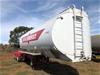 2000 Marshall Lethlean Triaxle Fuel Tanker Lead Trailer