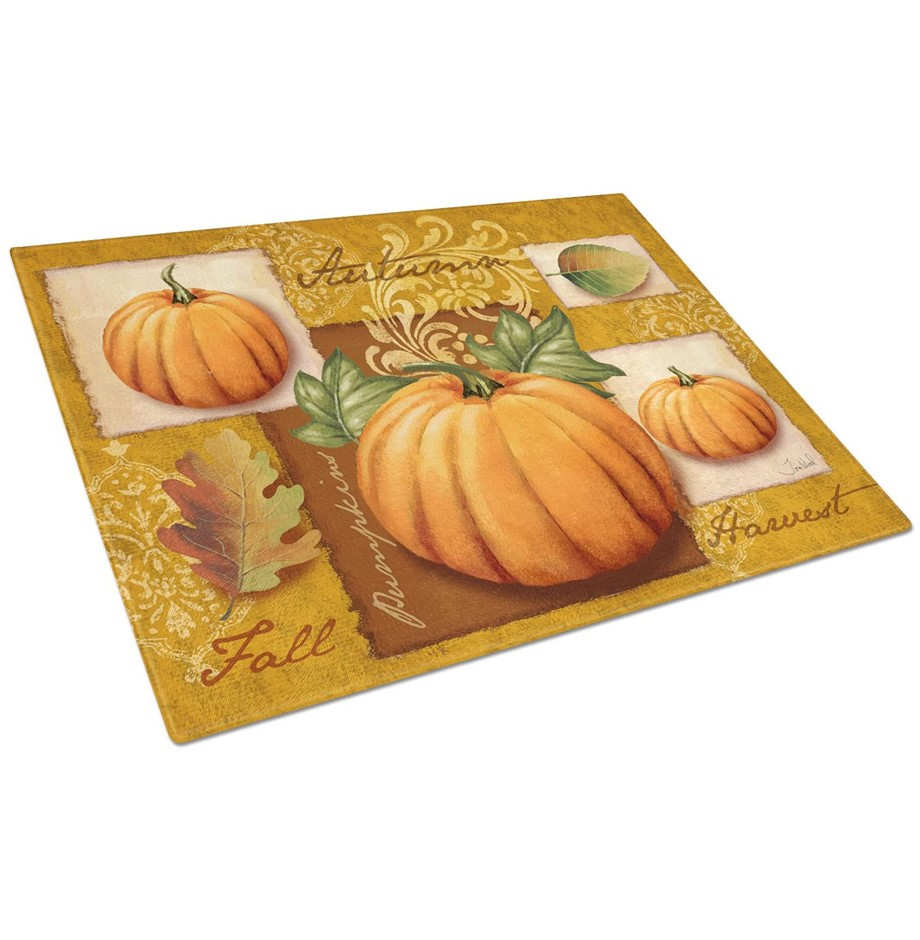 CAROLINE`S TREASURES Fall Harvest Pumpkins Glass Cutting Board, Large, 30cm