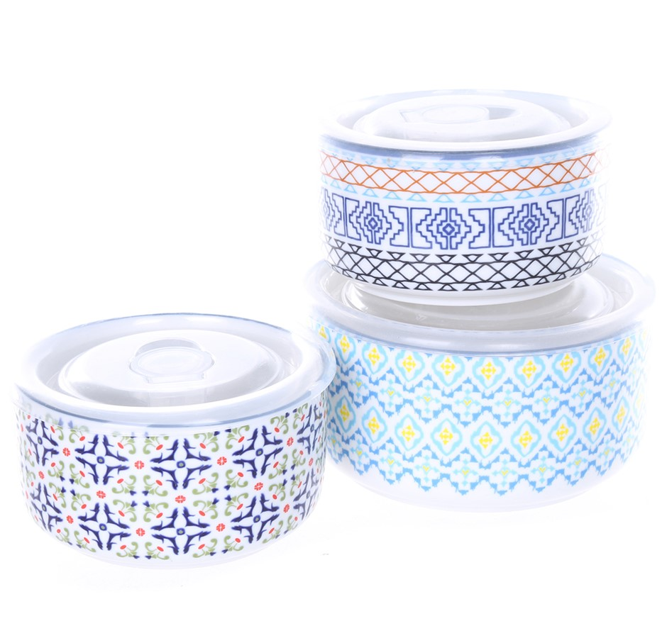 SIGNATURE HOUSEWARES INCORPORATED Microwavable Bowls w/ Lids, Collection of