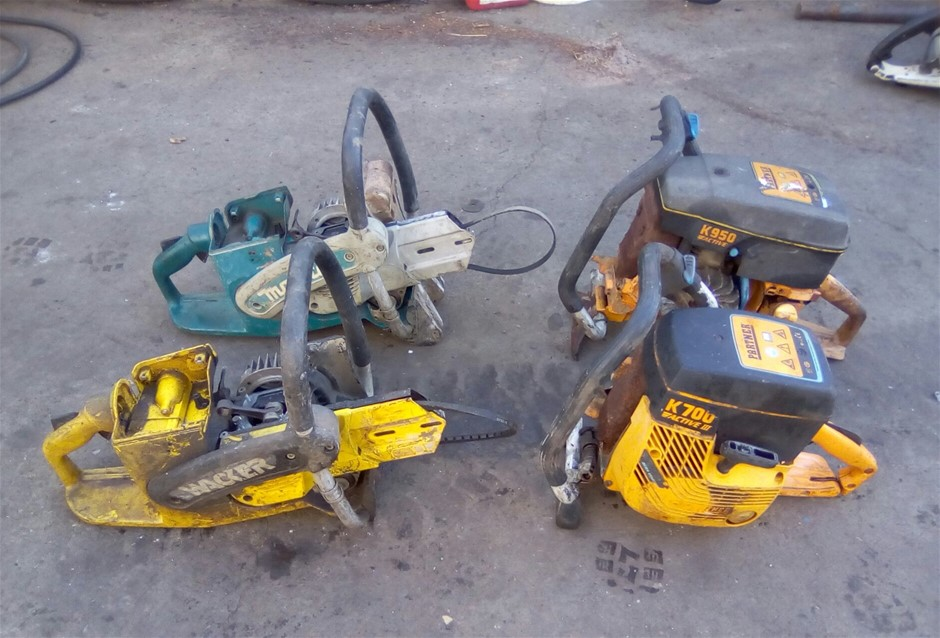 Lot of 4 Demolition Saws