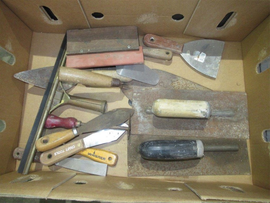 Various Trowels and Scrapers