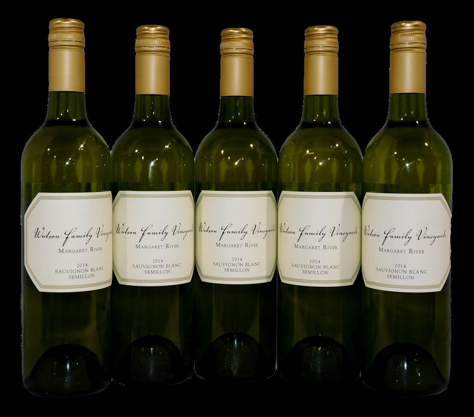 Watson Family Vineyard Sauvignon Blanc Semillon 2014 (5x 750mL), WA