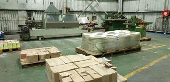 Assorted Hardware, Edge Banding Stock, Machinery