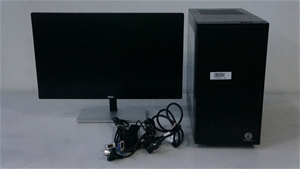 Tower Desktop PC with AOC 23-Inch Monito