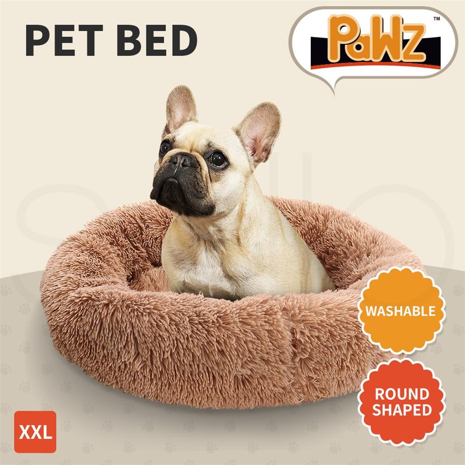 PaWz Pet Bed Mattress Dog Beds Bedding Cat Pad Mat Cushion Winter XXL Brown