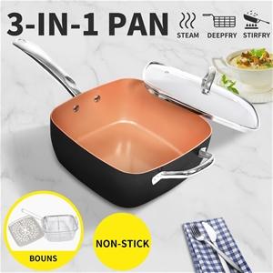 Scepan Set Frying Pan Non Stick Deep Fry