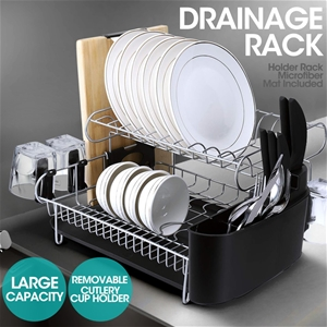 Stainless Steel Kitchen Dish Rack Cup Di