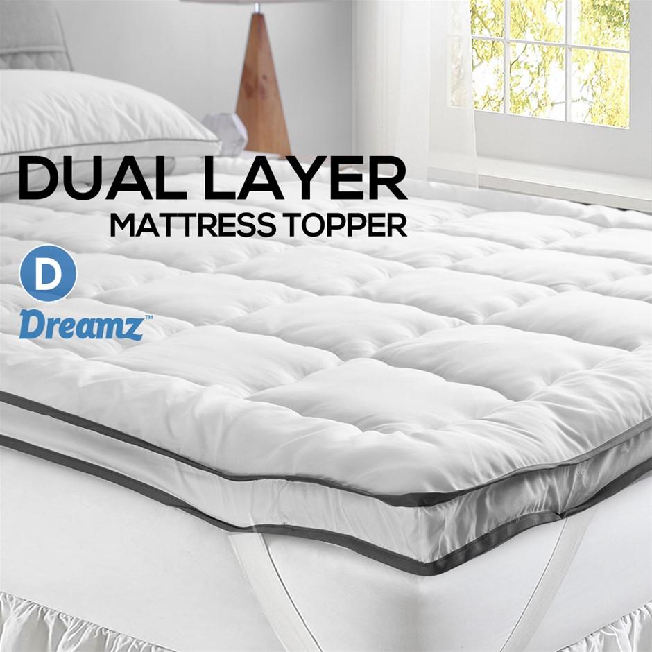 DreamZ Bedding Luxury Pillowtop Mattress Topper Mat Protector Cover Double