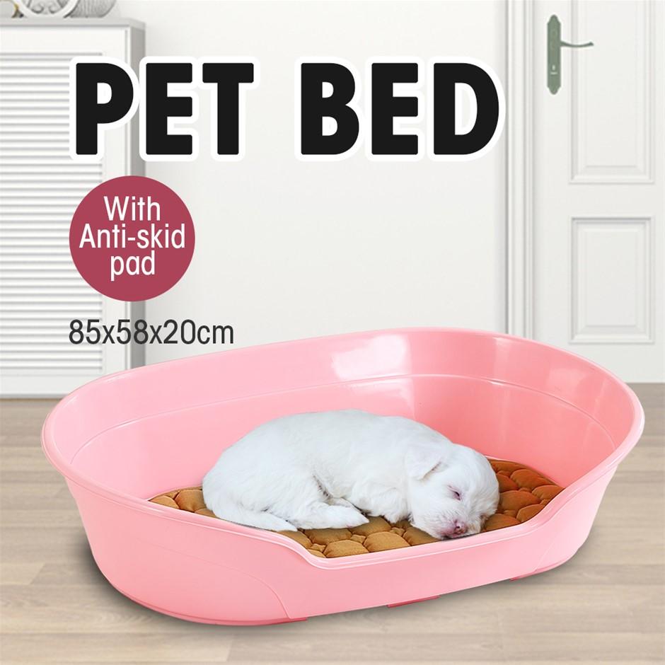 Large 85cm Plastic Pet Bed w/ Ventilation Holes Resting Plastic Dog Basket