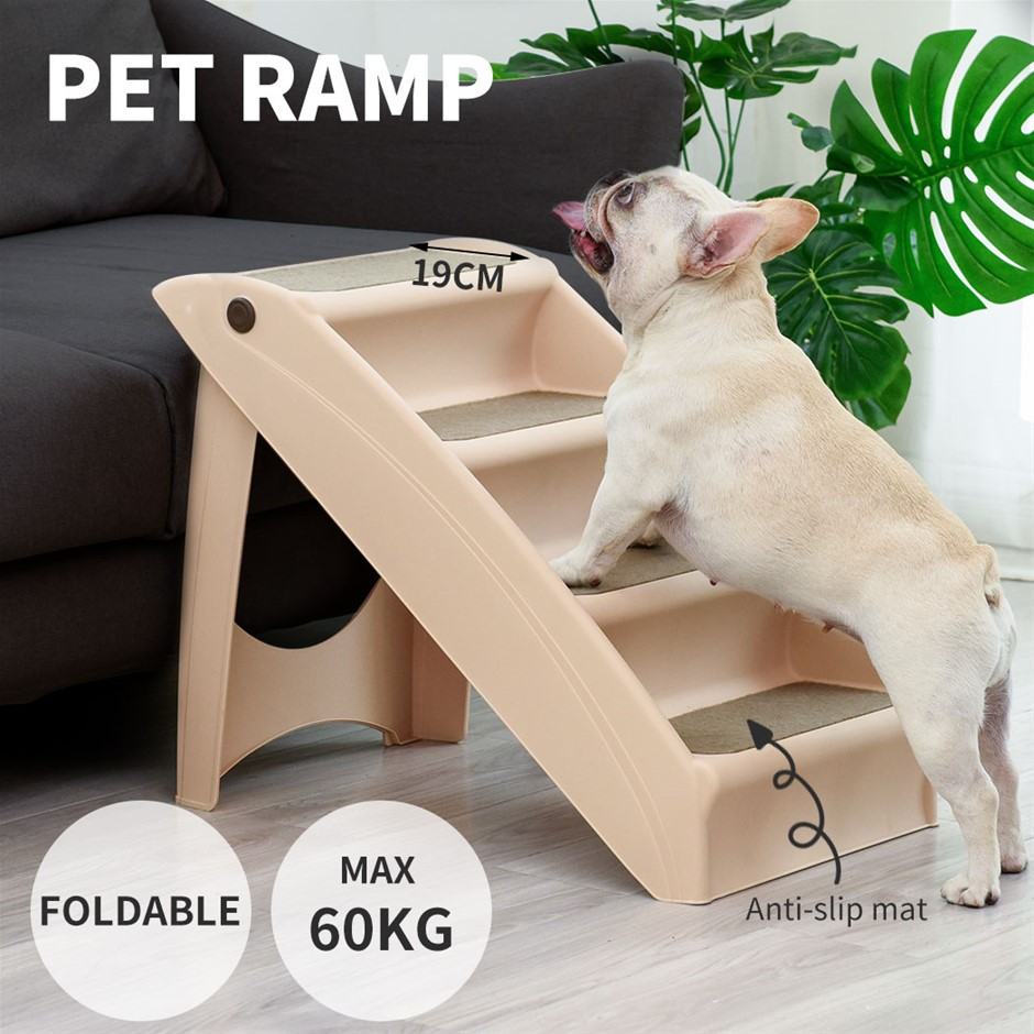 Pet Stairs Ramp Steps Portable Foldable Climbing Ladder Soft Washable Dog