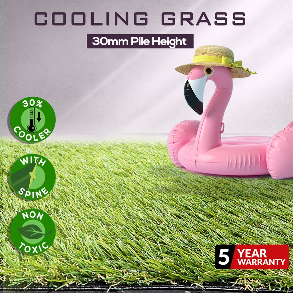 Artificial Grass Synthetic Turf Lawn Plastic Braches Pin Green Plant 30mm