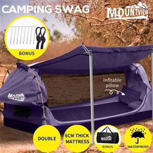 Mountview Double Swag Camping Swags Canv