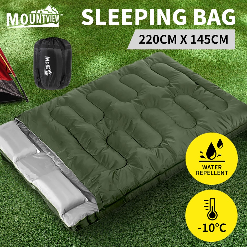 Mountview Sleeping Bag Double Bags Outdoor Camping Thermal -10? Hiking Tent