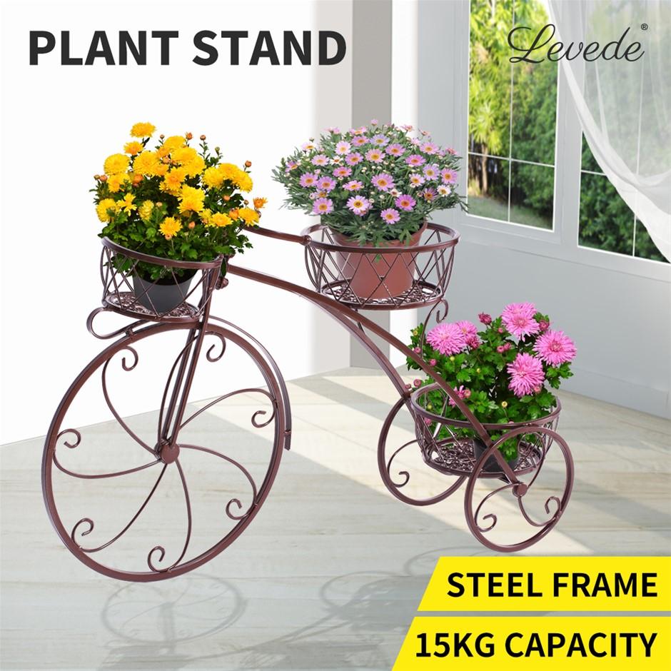 Levede Plant Stand Out/Indoor Metal Flower Pots Rack Corner Planter Shelf