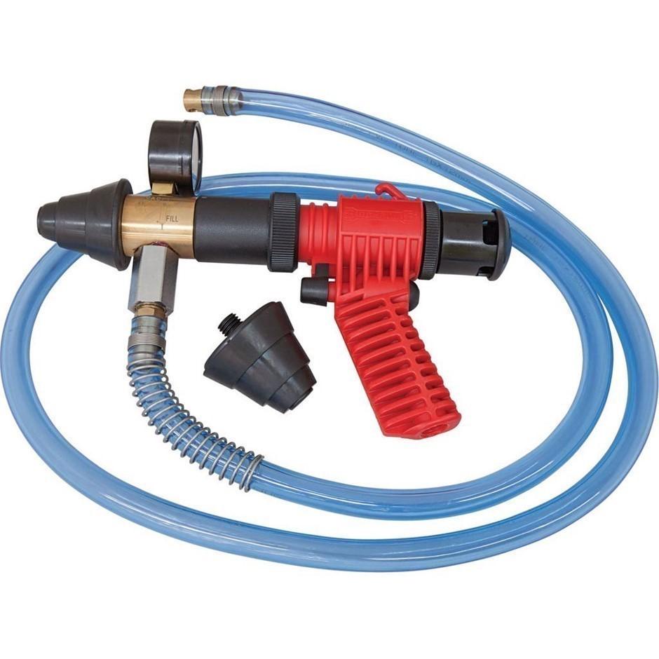 SIDCHROME Cooling System Refilling Gun c/w Vacuum Gauge 1500mm Filing Hose,
