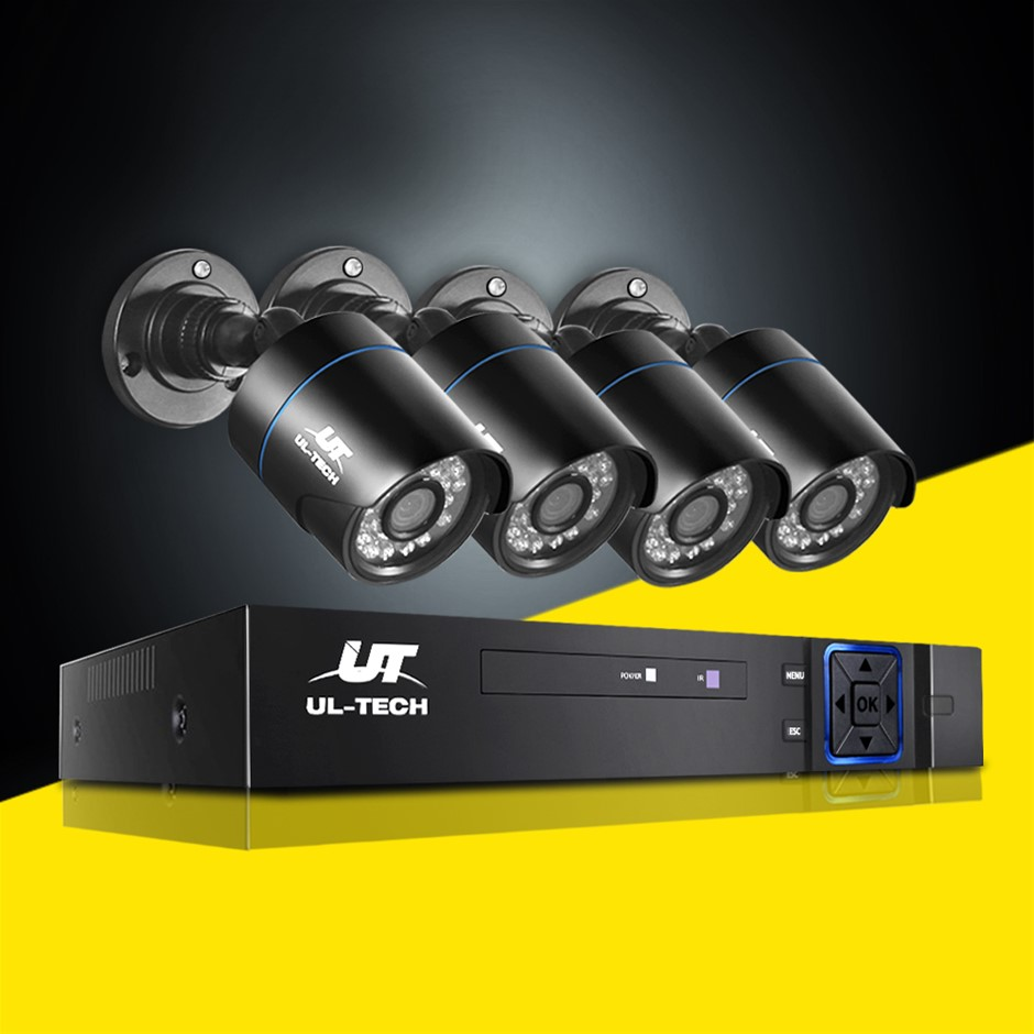 UL-tech CCTV 5MP Security Camera System 4CH 5 in 1 DVR Home Outdoor