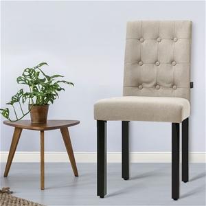 Artiss x2 DONA Dining Chair Fabric Foam
