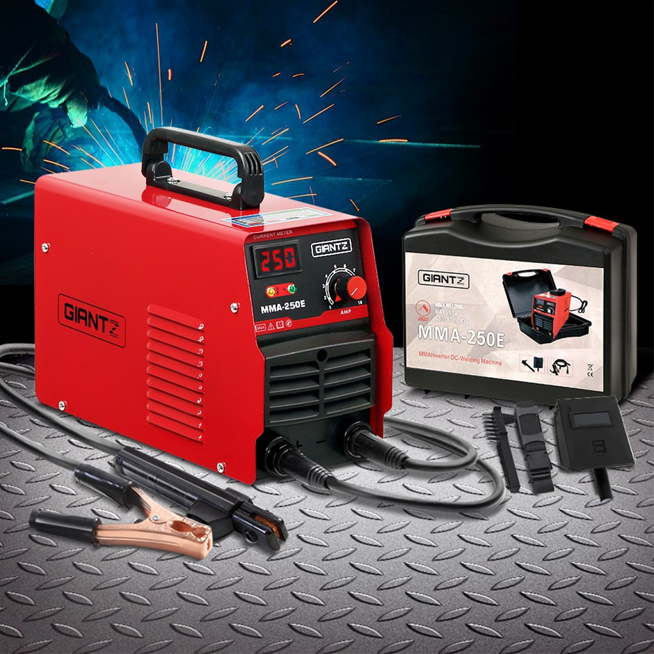 Giantz 250 Amp Inverter Welder DC MMA ARC IGBT Welding Machine Stick