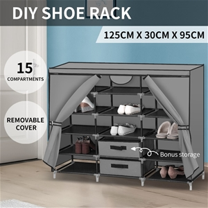 Shoe Rack DIY Portable Storage Cabinet O