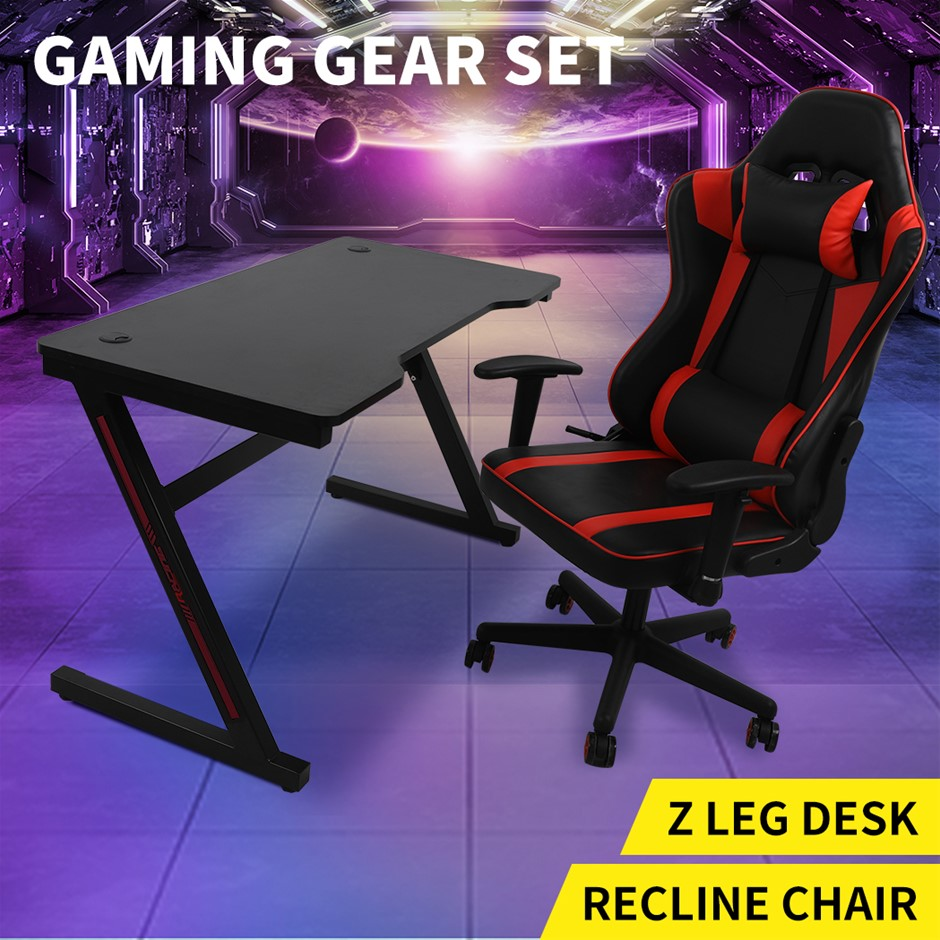 Gaming Chair Desk Computer Gear Set Racing Desk Office Chair Study Home