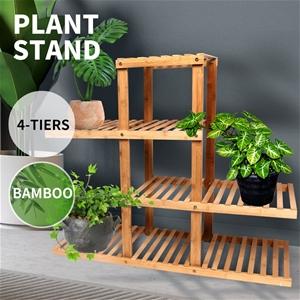 4 Tiers Premium Bamboo Wooden Plant Stan
