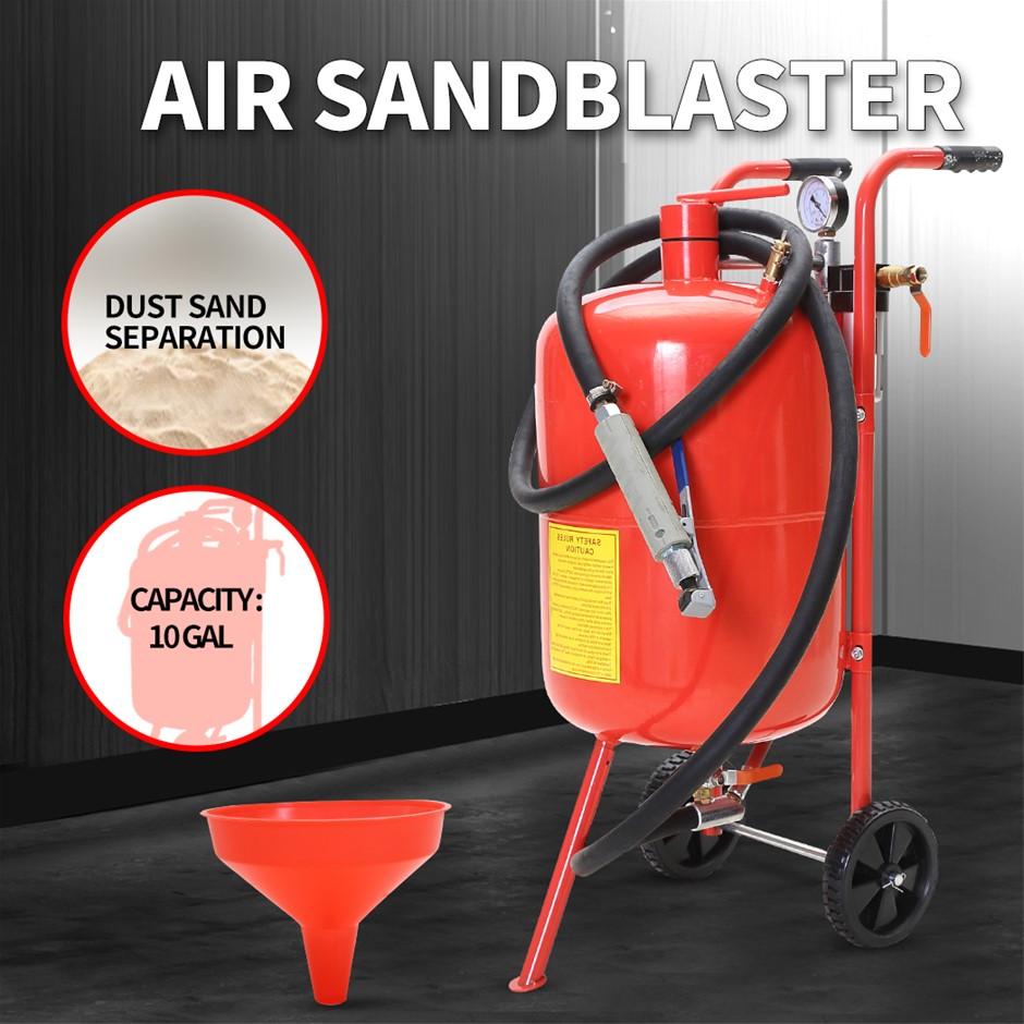 Sandblaster Air Sand Blaster 10 Gallon Portable Steel Pressure Washer
