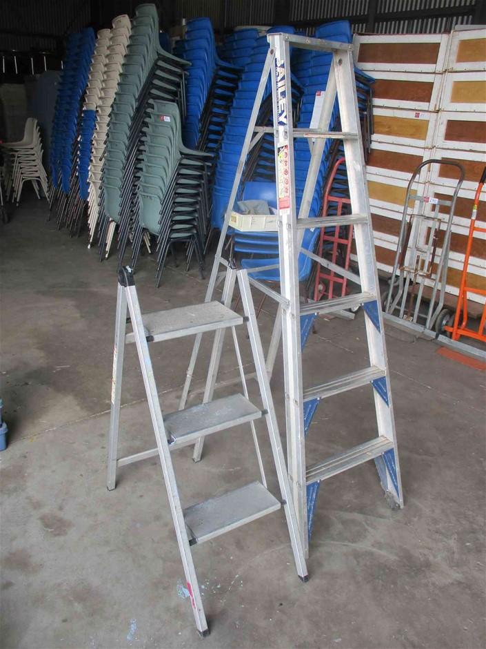 2 x Aluminium Ladders Various