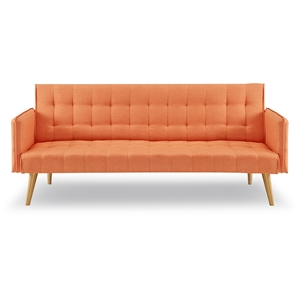 3 Seater Sofa Bed Linen 2840 in Orange