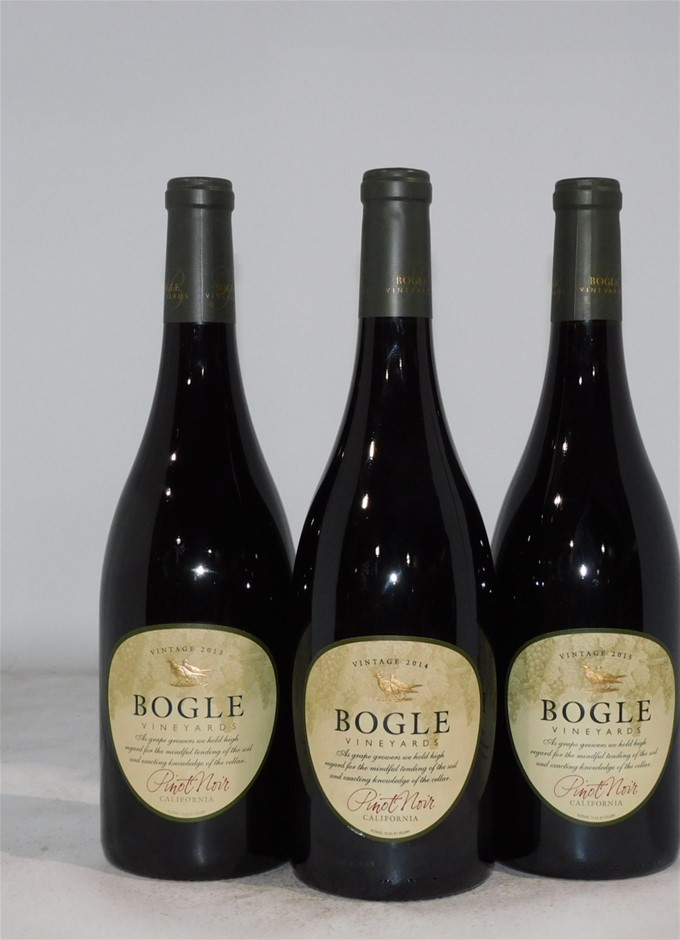 Vertical Pack of Bogle Pinot Noir (3x 750mL), California, Cork Closure